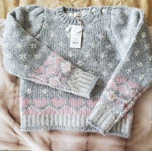 LoveShackFancy sweater gray XS NWT